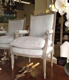 Antique French chairs......