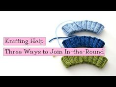 3 Ways to Join In-the-Round - VeryPink offers knitting patterns and video tutorials from Staci Perry. Short technique videos and longer pattern tutorials to take your knitting skills to the next level. Knitting Help, Knitting Videos, Knitting For Beginners, Loom Knitting, Knitting Stitches, Knitting Projects, Knitting Basics, Crochet Projects, Knitting Patterns