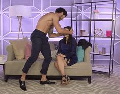 When Dancing With the Stars pro Val Chmerkovskiy stopped by Us Weekly's headquarters in New York, he ripped off his shirt and gave assistant editor Jamie Bynn a lap dance she'll never forget.