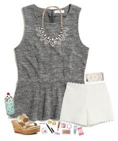 """""""I stayed home from school today. Again. """" by hopemarlee ❤ liked on Polyvore featuring Madewell, Moschino Cheap & Chic, Jack Rogers, Forever 21, Dogeared, Marc Jacobs, Too Faced Cosmetics, Clinique, Urban Decay and Vera Bradley"""