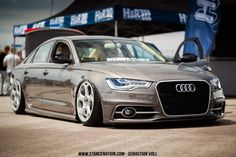 Dope Audi A6 with Lambo wheels and airsuspension