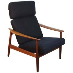 Arne Vodder FD-164 Reclining Lounge Chair, France and Son   From a unique collection of antique and modern lounge chairs at https://www.1stdibs.com/furniture/seating/lounge-chairs/