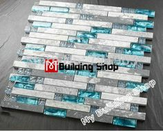 Buy Glass Stone Mosaic Tiles at factory wholesale price for kitchen backsplash & bathroom wall remolding. A huge selection of glass mosaic, glass tiles, stone mosaic & glass mix stone mosaics. Stone Mosaic Tile, Mosaic Glass, Glass Tiles, Regrouting Tile, Mosaic Stones, Blue Glass Tile, Cement Tiles, Grey Glass, Stone Bathroom