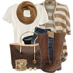 """""""Cardigan & Boots"""" by brendariley-1 on Polyvore"""