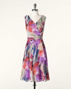 Coldwater Creek Rainbow wrap Multicolor #dress $129.99