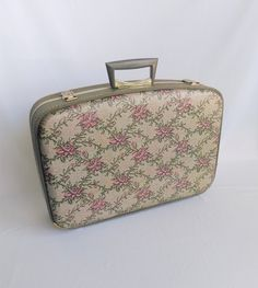 Vintage Small Suitcase with Mirror, Vintage Suitcase, Small ...