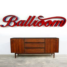 Huge Vintage Reclaimed Ballroom Sign by TheModernHistoric on Etsy, really want!!