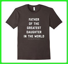 Mens Parenting - Father Of The Greatest Daughter In The World 3XL Asphalt - Relatives and family shirts (*Amazon Partner-Link)