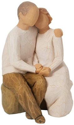 Willow Tree Together - UK Figurine and Statues 50 Wedding Anniversary Gifts, Anniversary Gifts For Parents, Anniversary Photos, 9th Anniversary, Willow Tree Figurines, Hand Painted Cakes, Parent Gifts, Creative Gifts, Gifts For Dad