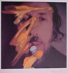 'Self-portrait with yellow', 1998 by Richard Hamilton (1922-2011, United…