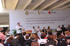 El gobernador, Javier Duarte de Ochoa, presidió el Inicio de la colecta anbual de la Cruz Roja 2011