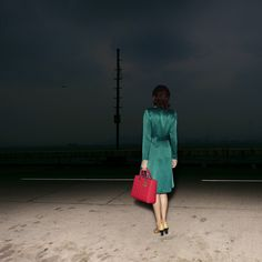 Mysterious light in the dark. Surreal fashion photography by Quentin Shih