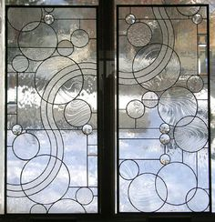 Stained Glass Window Panel--Arts and Crafts Style Circle Study Transom- x Arts And Crafts Interiors, Arts And Crafts Furniture, Stained Glass Door, Stained Glass Panels, Verre Design, Glass Design, Window Panels, Panel Doors, L'art Du Vitrail