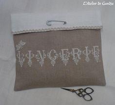 Pochette pour lingerie - L'Atelier de Gandja