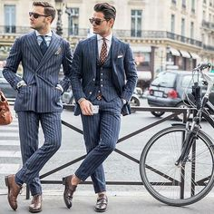 Be inspired by Federico Lapo and Frank Gallucci! Photo by @photo_kim_byungjun.  #gentleman #gentlemen #gentlemenwear #gentlemenwearthis #men #mens #menswear #menstyle #style #class #dapper #bespoke #sprezzatura #shirt #tie #suit #doublebreasted #pocketsquare #jacket #trousers #luxury #luxurious #timepiece #watch #sunglasses #FedericoLapo #FrankGallucci