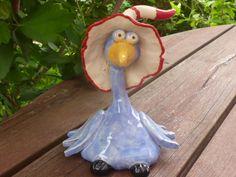 Vogel klein - Fliederblau von KeramikSchneider auf DaWanda.com