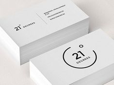 .: 21 degree business cards :.