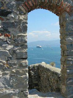 The Azamara Quest in Portovenere, Italy.