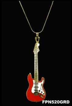 Reasonable Harmony Jewelry Fender Stratocaster Necklace Other Guitars Jewelry & Watches White And Black Excellent Quality