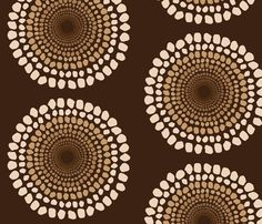 Tribal Brown  fabric by dolphinandcondor on Spoonflower - custom fabric