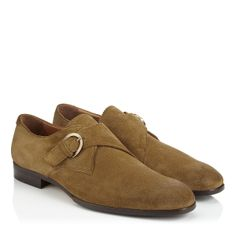 Jimmy Choo - Byron - 131byronsfd - Cocoa Suede Monk Strap Shoes