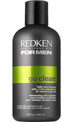 Go clean shampoo Formulated with: Protein = Hair Strength Glycerin = Moisture and Shine Gently cleanses, removes build-up, and helps leave hair stronger* and more manageable. Helps hydrate the scalp. *restores strength when used with finish up weightless conditioner.