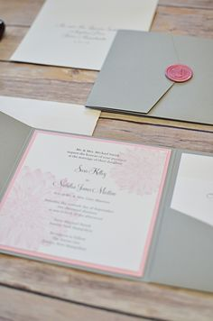 wedding invitation suite done by Invited design studio in NH www.inviteddesignstudio.com