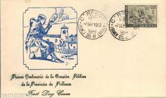 Peru-1962-Fdc-centenario-Creacion-de-la-provincia-de-alta-tension-Pallasca