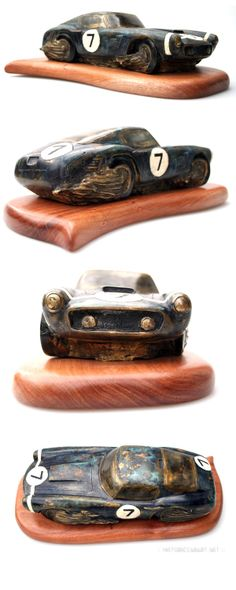 Ferrari 250GT SWB (Stirling Moss) Bronze Sculpture by Esteban Serassio
