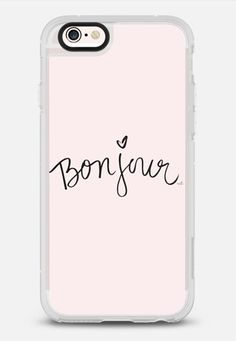 Bonjour Pink Hello Case iPhone 6s case by Sweet Water Decor, LLC | Casetify