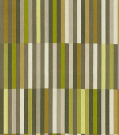$7.99 Joanns - Waverly Modern Essentials Fabric-Side Step / Avocado:  Possible fabric for throw pillows or curtains
