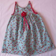 Vestido Infantil Cerejas! $46.00