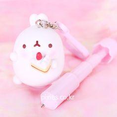 Molang Pen & Key Ring Mascot Figure | Pixie ♥