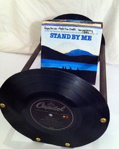 7 inch record holder (smart design) Use old table legs