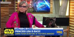 Carrie Fisher gave one of the best interviews of her life last year on 'Good Morning America'