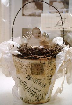 ~ The Feathered Nest ~: Peat Pot Nest Baby