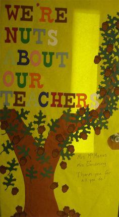 Decorate teacher's door for teacher appreciation