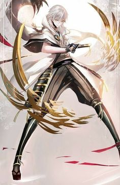 Find images and videos about art, anime and game on We Heart It - the app to get lost in what you love. Touken Ranbu, Fantasy Characters, Anime Characters, Manga Anime, Anime Art, Anime Krieger, Image Manga, Hot Anime Guys, Anime Boys