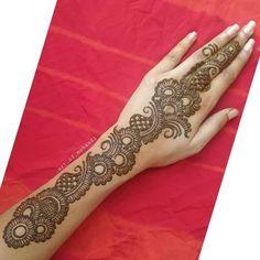 Unique Mehndi Designs, Mehandi Designs, Hand Henna, Hand Tattoos, Arabic Mehndi, Art, Art Background, Kunst, Performing Arts