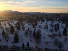 Sunrise from office space in Anchorage