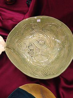 Form built, coil built salad bowl.
