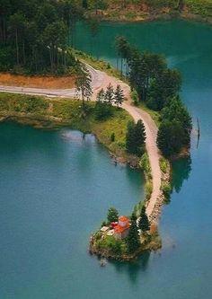 Doxa Lake, Korinthia Prefecture, Greece - how divine! Beautiful Islands, Beautiful Places, Places To Travel, Places To See, Myconos, Greece Pictures, Greek Islands, Greece Travel, Amazing Nature