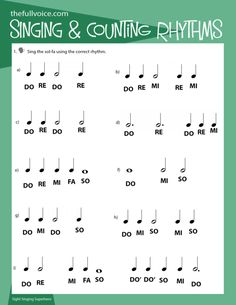 Inspired Vocal Music Resources for Young Singers. The FULL VOICE Workbooks - a workbook for young vocal students. Singing, music theory, ear-training, rhythm reading and sight singing curriculum for Vocalists. Singing Lessons For Kids, Vocal Lessons, Singing Tips, Music Lessons, Learn Singing, Do Re Mi, Music App, Music Notes, Choir Warm Ups