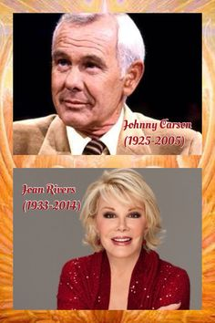 Can you imagine Johnny Carson & Joan Rivers Fighting in The Gates Of Heaven? Here's Johnny, Johnny Carson, Late Night Talks, Joan Rivers, Rest In Peace, Gates, Heaven, Celebrities, Sky