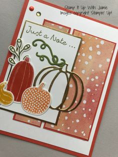 Stampin' Up! Pick a Pumpkin – Stamp It Up with Jaimie