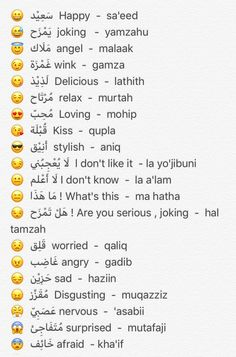 Learning Arabic MSA (#FabienneM) Arabic Phrases, Islamic Phrases, Arabic Words, Speak Arabic, Sms Language, English Language Learning, English Vocabulary Words, Learn English Words, Learn Arabic Online