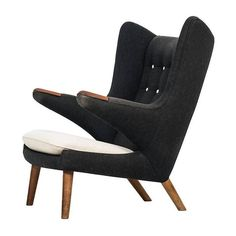 Hans Wegner Papa Bear Chair by A.P. Stolen in Denmark | From a unique collection of antique and modern lounge chairs at https://www.1stdibs.com/furniture/seating/lounge-chairs/