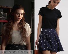 It is the Denim & Supply Ralph Lauren Floral Print A Line Mini Skirt in dark blue.