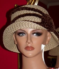 1920 style Flapper Hat  Cloche Hat Derby Hat Church ♥ by ludascrafts, $69.99