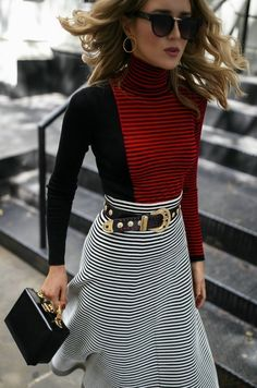 1e0c9bddfee Stripes on Stripes    Red and black striped top